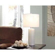 Ceramic Table Lamp - Steuben White