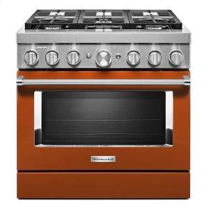 KitchenaidKitchenAid® 36'' Smart Commercial-Style Dual Fuel Range with 6 Burners Scorched Orange