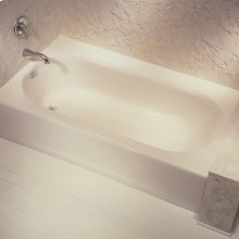 Princeton 60x34 inch Integral Apron Bathtub with Ledge and Overflow  American Standard - White