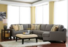 Chamberly 4 Pc LAF Sectional w/RAF Cuddler