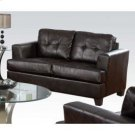 Brown Bonded Leather Loveseat Product Image