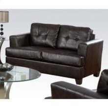 Brown Bonded Leather Loveseat