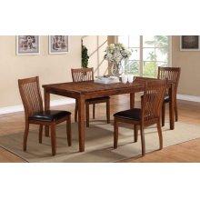 "72"" Leg Table w/ 4 Chairs"