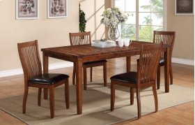 "72"" Leg Table w/ 4 Chairs"