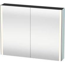 Mirror Cabinet, Light Blue Matt Decor