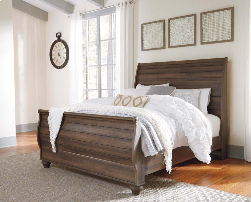Birmington - Brown 3 Piece Bed Set (Queen)