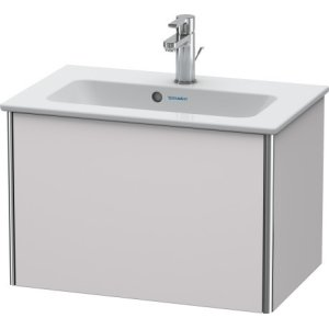 Vanity Unit Wall-mounted Compact, White Lilac Satin Matt Lacquer