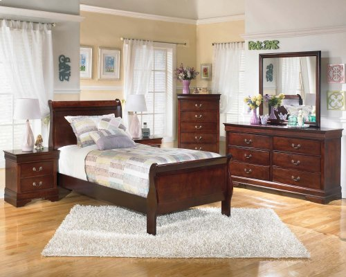 Ashley 4-Piece Twin Sleigh Bed Set
