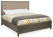 Bedroom Annex Queen Platform Upholstered Panel Bed