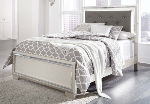 Lonnix - Silver Finish 3 Piece Bed Set (Full)