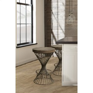 Hillsdale FurnitureKanister Backless Counter Stool - Walnut/dark Pewter