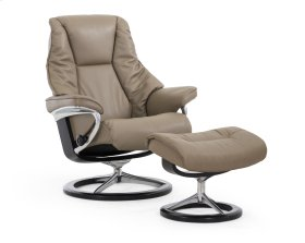 Stressless Live Medium Signature Base Chair and Ottoman