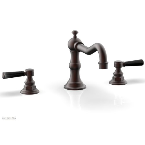 HENRI Deck Tub Set - Marble Lever Handles - 161-42 - Weathered Copper