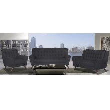 Mirage Black Loveseat