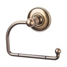 Edwardian Bath Tissue Hook Plain Backplate - German Bronze