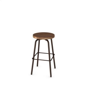 Button Swivel Stool (wood)