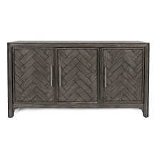 Gramercy Platinum 3 Door Accent Cabinet