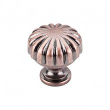 Melon Knob 1 1/4 Inch - Antique Copper