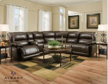 2435 Dark Caramel fixed Recliner