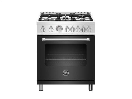 30 inch Dual Fuel, 5 Burners, Electric Oven Matt Black