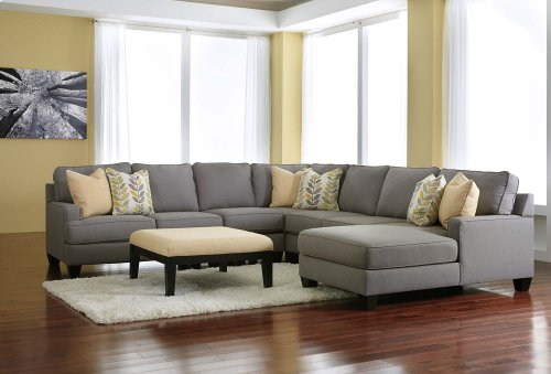 Chamberly 5 Pc LAF Sectional w/RAF Chaise
