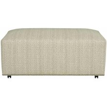 Lolo Rectangle Ottoman in #44 Antique Nickel