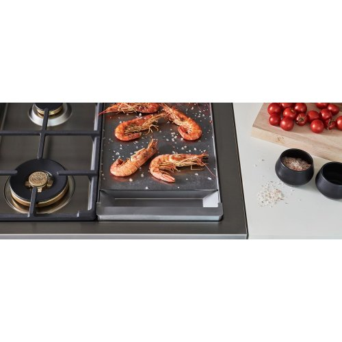 48 inch Dual Fuel Range, 6 Brass Burners and Griddle , Electric Self Clean Oven Orange