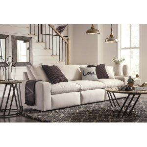 Ashley Furniture Savesto - Ivory 3 Piece Sectional