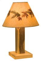 Blue Stain Table Lamp - with Large Foliage Lamp Shade (Shade #19245-L) Product Image