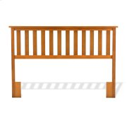 Belmont Wood Headboard Panel with Flat Top Rail and Slatted Grill Design, Maple Finish, Full / Queen Product Image