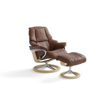 Stressless Reno Small Signature Base Chair and Ottoman