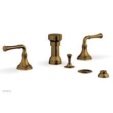 BEADED Four Hole Bidet Set 207-60 - French Brass