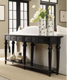 Living Room Six Drawer Thin Console