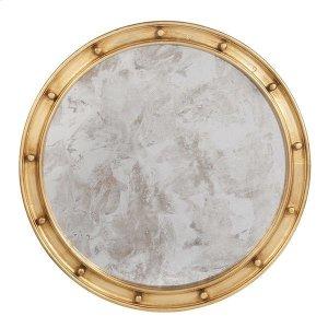 Worlds Away Large Gold Leaf Federal Style Frame With Antique Mirror.