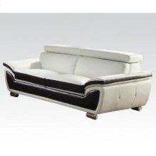 Wh/coff Bonded L. Match Sofa