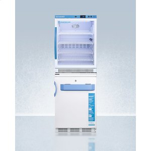 SummitStacked Combination of Arg6pv All-refrigerator and Vt65mlbimed2 Manual Defrost All-freezer for Vaccine Storage