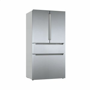 BOSCH800 Series French Door Bottom Mount Refrigerator Easy clean stainless steel B36CL80ENS