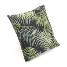 Tropical Black & Green Pillow