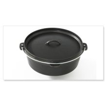 Professional Grade Cast Iron Dutch Oven with Lid - 5.5 qt - Fits XXL, XL, L, M