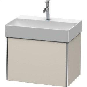 Vanity Unit Wall-mounted Compact, Taupe Matt (decor)