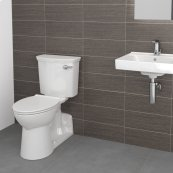 Yorkville VorMax Right Height Elongated Toilet with right hand side trip lever - White