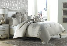 9pc Queen Comforter Set Neutral