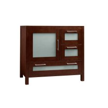 "Athena 36"" Bathroom Vanity Base Cabinet in Dark Cherry - Door on Left"