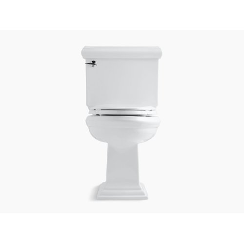 White Comfort Height Two-piece Elongated 1.28 Gpf Toilet With Aquapiston Flushing Technology, Left-hand Trip Lever and Insuliner Tank Liner, Seat Not Included
