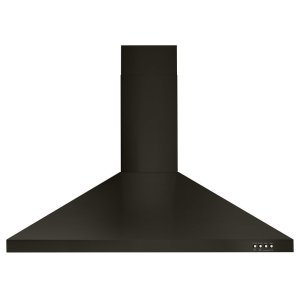 "Whirlpool36"" Contemporary Black Stainless Wall Mount Range Hood"