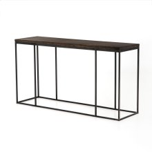 English Brown Oak Finish Harlow Console Table
