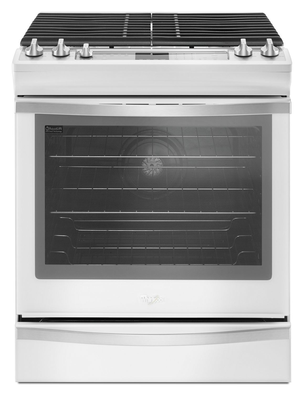 Weg745h0fh Whirlpool 5 8 Cu Ft Slide In Gas Range With Ez