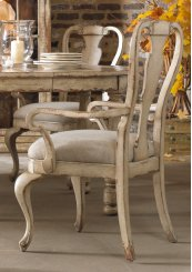 Dining Room Wakefield White Splatback Arm Chair