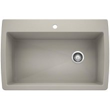 Blanco Diamond Super Single Bowl - Concrete Gray