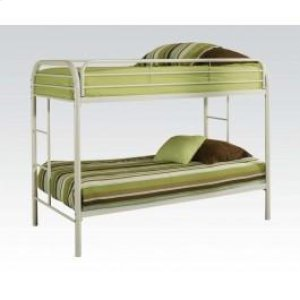 White Twin/twin Bunk Bed
